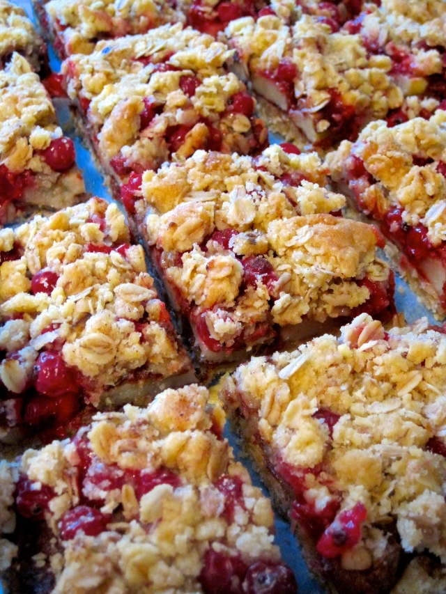 Apple Currant Crumble Bars